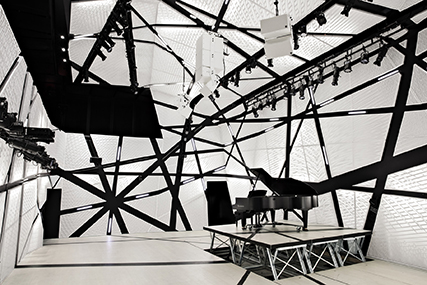 Interior of National Sawdust, New York. Designed by Bureau V. Photography by Floto + Warner