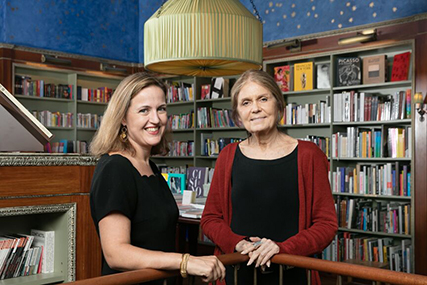 Benedicte de Montlaur and Gloria Steinem, Festival Albertine 2017. Photo by Beowulf Sheehan